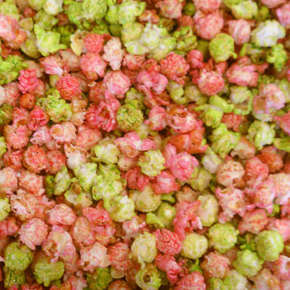 pink and lime kettle corn